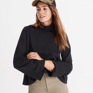 Madewell Black Wide-Sleeve Turtleneck sz XS